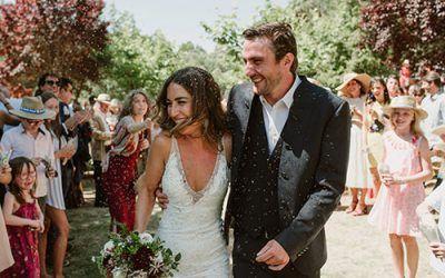 La boda en Benavente al aire libre de Laura y Seb