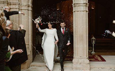 La boda en el Monasterio del Espino de Isa y Jon