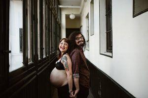 Un reportaje de embarazo en Madrid